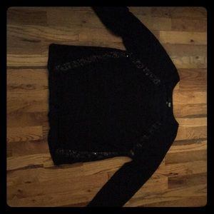Medium black sweater with black sequins down sides